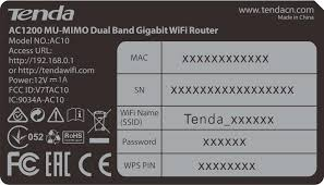 tenda router lable